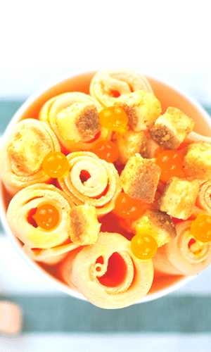Orange with Toppings